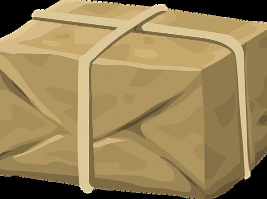 brown packaged parcel